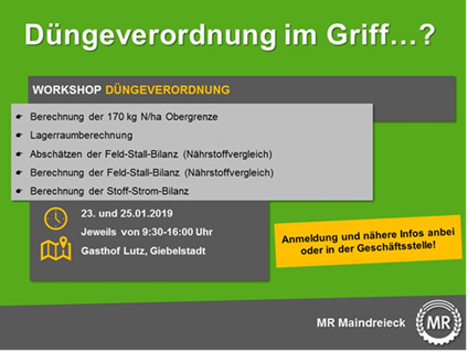 Workshop Düngeverordnung
